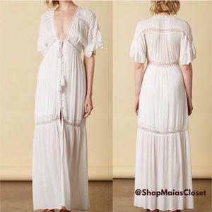 Boho Lace + Crochet Maxi Dress